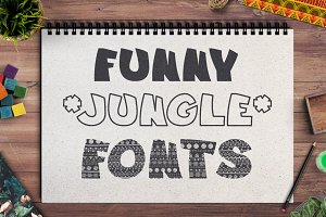 3 funny fonts JUNGLE