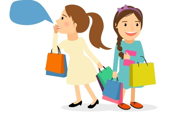 Women with shopping bags in Graphics