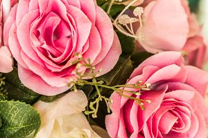 Bouquet of rose flower background