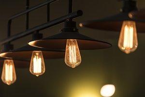 Luxury retro light lamp