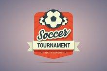 Soccer tournament badge
