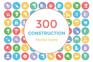 300 Construction Vector Icons