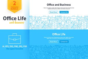 Office Life Line Web Banners