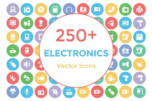 250+ Electronics Vector Icons