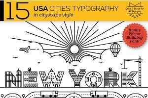 15 Creative USA Cities Typography