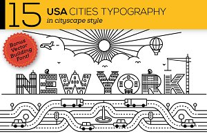 15 Creative USA Cities Typography