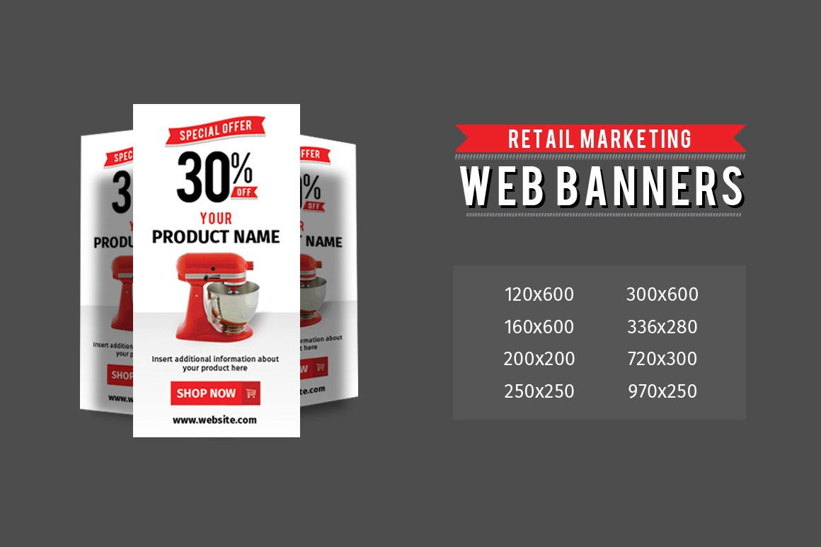 Retail Marketing Web Banners Web Elements Creative Market