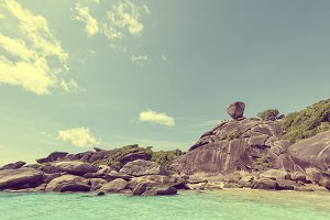 Vintage style Similan Islands