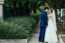 Bride & Groom To The Side | Stock