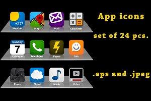 App icons - set of 24 pcs
