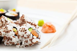Sushi - Asian healthy food.