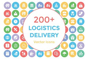 200+ Logistics Delivery Vector Icons