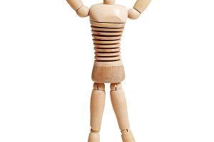 wooden mannequin in a running pose sports photos creative market