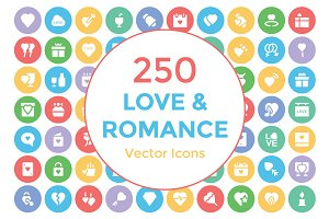 250 Love and Romance Vector Icons