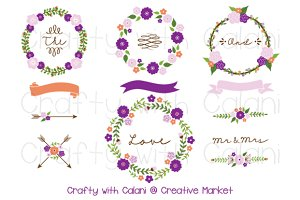 Purple Wedding Flower Wreath