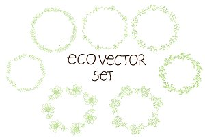 vector set of floral wreaths