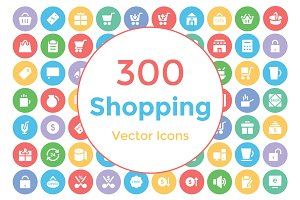 300 Shopping Vector Icons