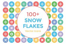 100+ Snow Flakes Vector Icons