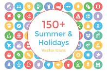 150+ Summer and Holidays Icons