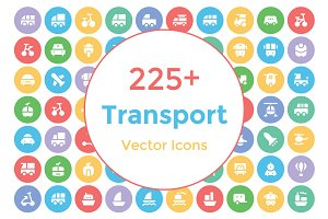 225+ Transport Vector Icons