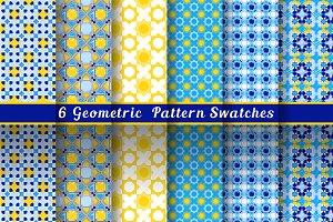Geometric Blue & Yellow Patterns