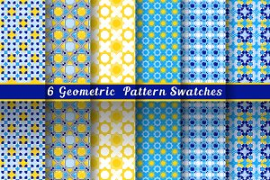 Geometric Blue & Yellow Patterns
