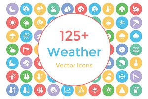125+ Weather Vector Icons