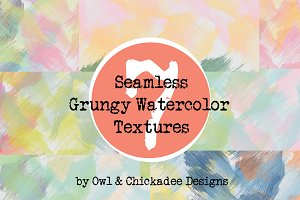 7 Seamless Watercolor Textures