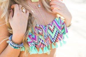 Blonde Styling Swimwear and Jewels