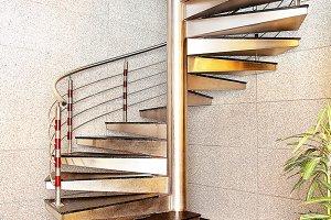 modern iron stair