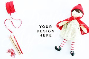 Doll Invitation Mockup