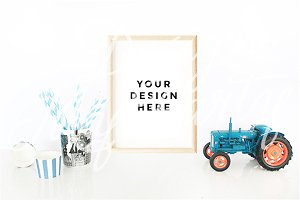 Tractor Poster Mockup