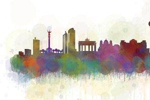 Berlin Cityscape Skyline v6