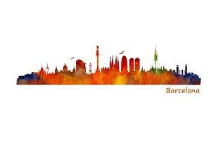 Barcelona Cityscape Skyline