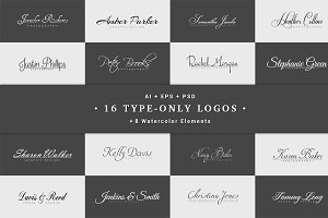 16 Type-Only Logos