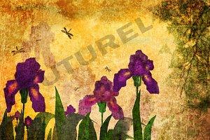 Grunge Irises.