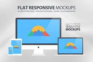 All New Flat Responsive Mockups