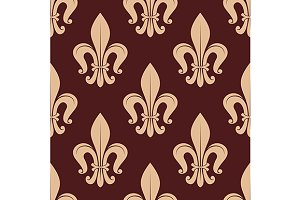 Brown and beige royal pattern
