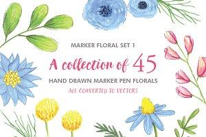 Marker Floral Set 1