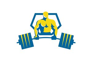 Weightlifter Midlift Shield Retro