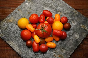 Medley Tomatoes on Slate