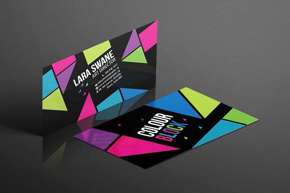 Colour block business card design business card templates colour block business card design business card templates creative market reheart Gallery