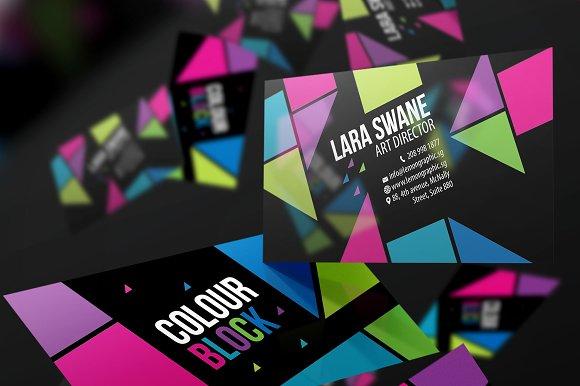 Colour block business card design business card templates colour block business card design business card templates creative market colourmoves