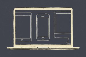 16 Apple Devices - Hand Illustrated