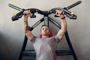 trainer handsome man in gym