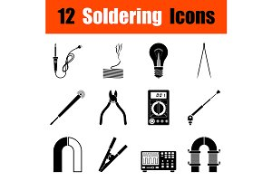 Set of soldering  icons