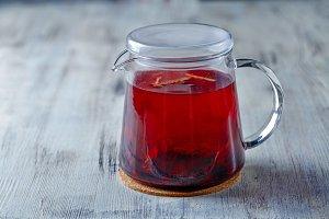 Tea kettle. Red tea