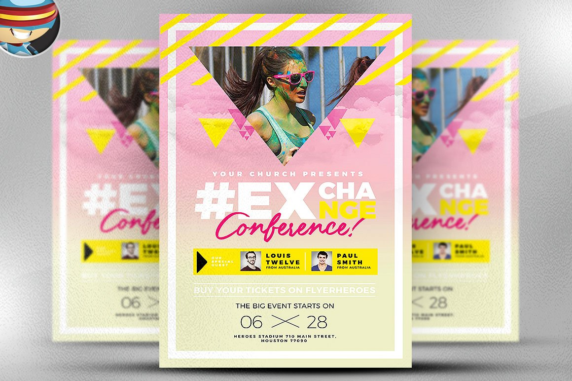 flyer heroes flyerheroes christian flyer templates collection youth festival flyer template