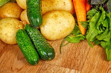 Ripe vegetables. Kosher food