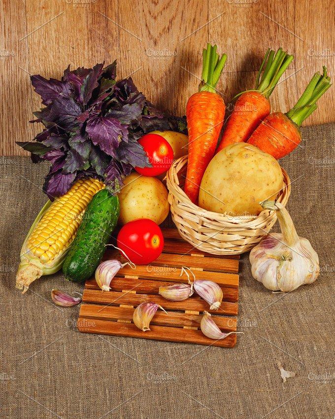 Fresh ripe vegetables. Healthy food - Food & Drink